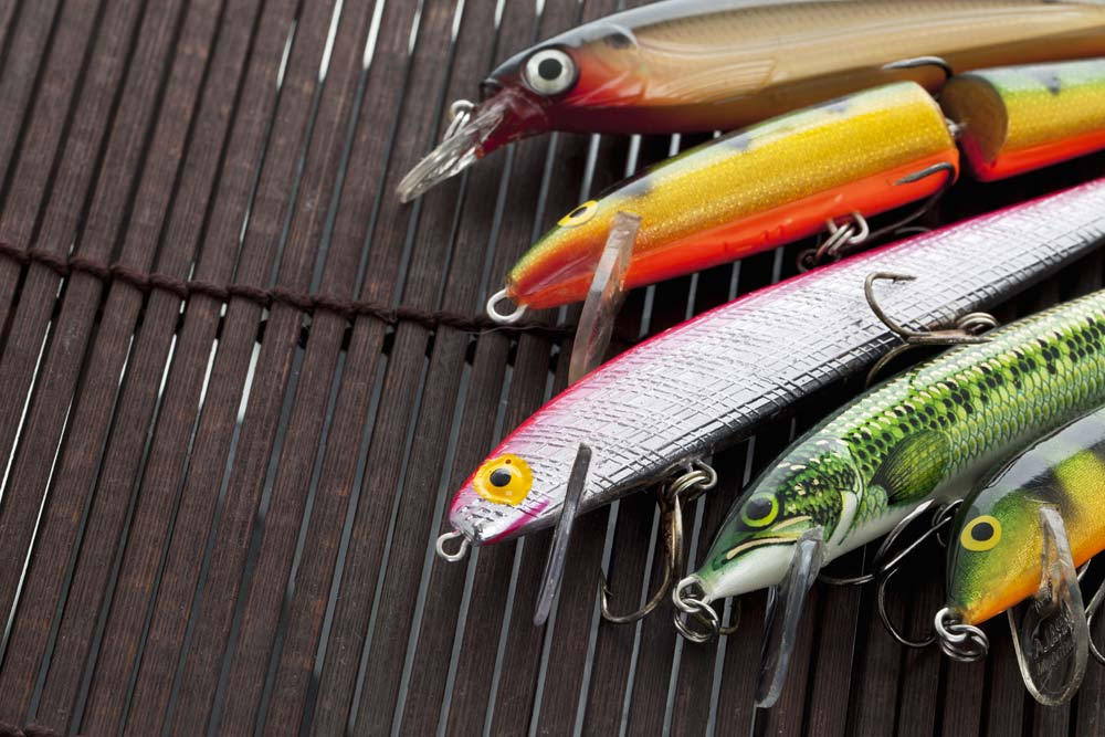 An array of freshwater lures