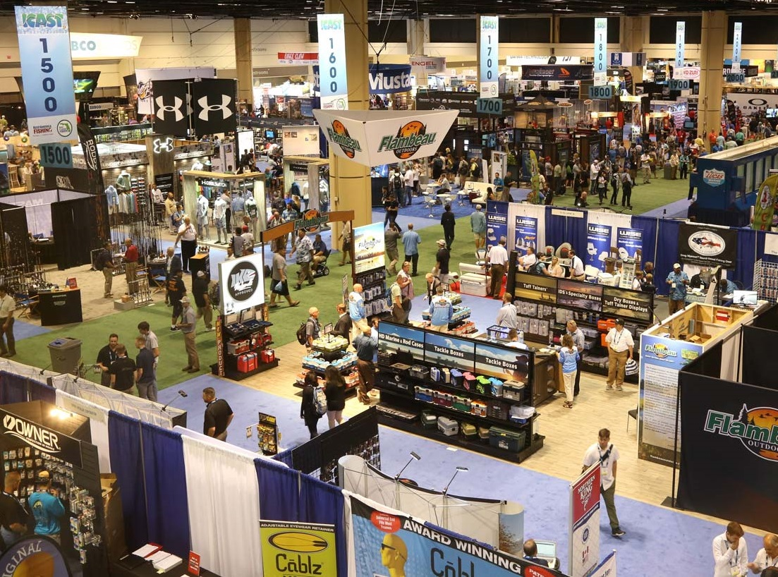 Aerial view of the show floor at ICAST