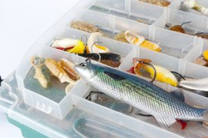 Tackle Box of soft plastic lures