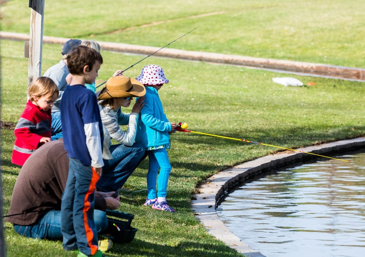 Annual Fishing Derby at Tommy Davis Park, Greenwood Village, Colorado.