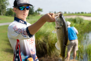 Bass and Birdies competitors fishing the ponds of Shingle Creek.