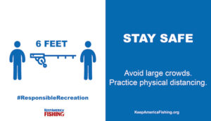 Responsible Recreation Infographic Stay Safe, avoid large crowds, practice social distancing, wash hands often.